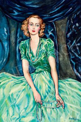 Batthyány Gyula - Horthy Istvánné, született gróf Edelsheim Gyulai Ilona portréja, 1930-as évek vége