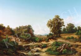 Ifj. Markó Károly - Itáliai táj, 1874