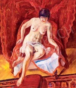 Mágori Varga Béla - Női akt vörösben, 1940 körül
