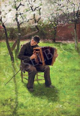 Verstraete, Theodor - Tavaszi kertben harmonikázó
