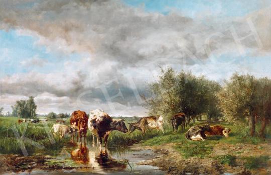 Bilders, Albertus Gerardus - Legelő tehenek | 55. Tavaszi Aukció aukció / 46 tétel