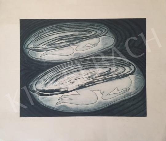 Eladó  Rácmolnár Sándor - Alvó kagylók, 1993 festménye