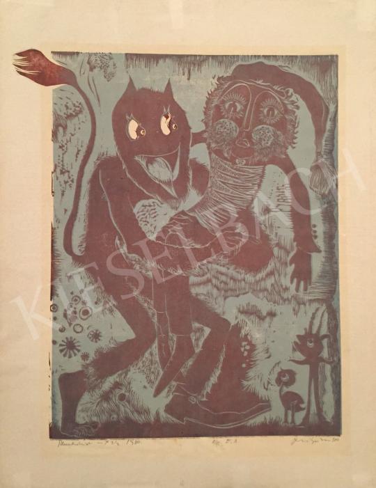 Eladó Szilágyi Imre - Illusztráció, 1980 festménye