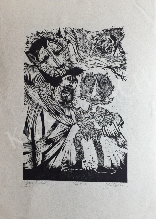 Eladó Szilágyi Imre - Kobold, 1972 festménye
