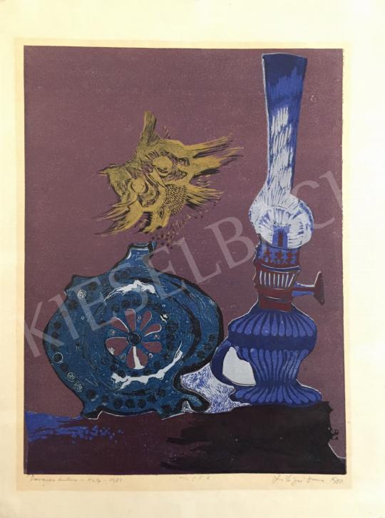 Eladó Szilágyi Imre - Pereces kulacs, 1982 festménye