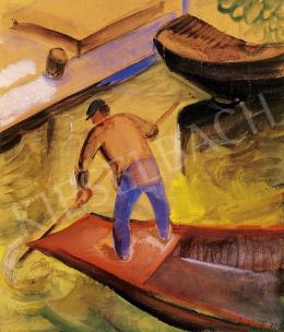 Derkovits, Gyula - On the boat