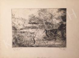 Aszódi Weil Erzsébet - Halász gyermeke Régi hídnál
