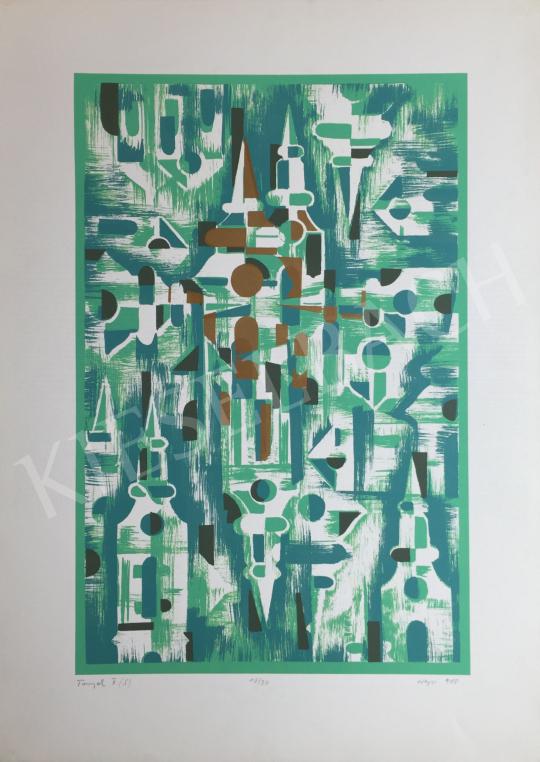 Eladó Hegyi György - Tornyok 2, 1988 festménye