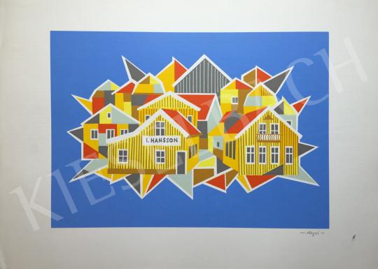 Eladó Hegyi György - Házak festménye