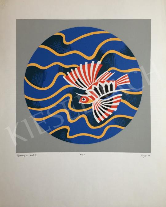 Eladó Hegyi György - Szárnyas hal, 1991 festménye