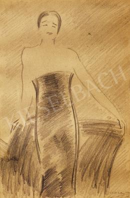 Vaszary János - Hölgy estélyi ruhában
