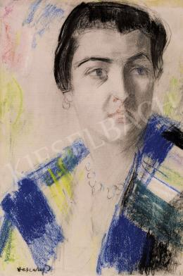 Vaszary, János - Lady with a scarf