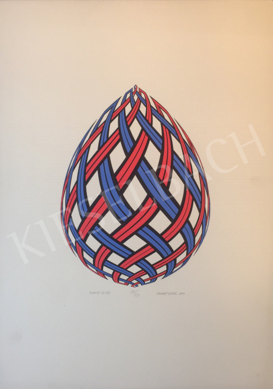 For sale Prutkay, Péter (Prutkai Péter) - Braided Egg, 1996 's painting