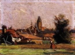 Mikola András - Nagybánya látképe