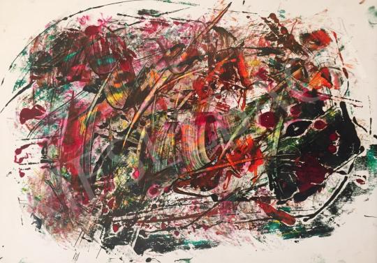 Eladó Ismeretlen művész - Festék próbafelhő 2. festménye