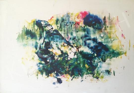 Eladó Ismeretlen művész - Festék próbafelhő 3. festménye