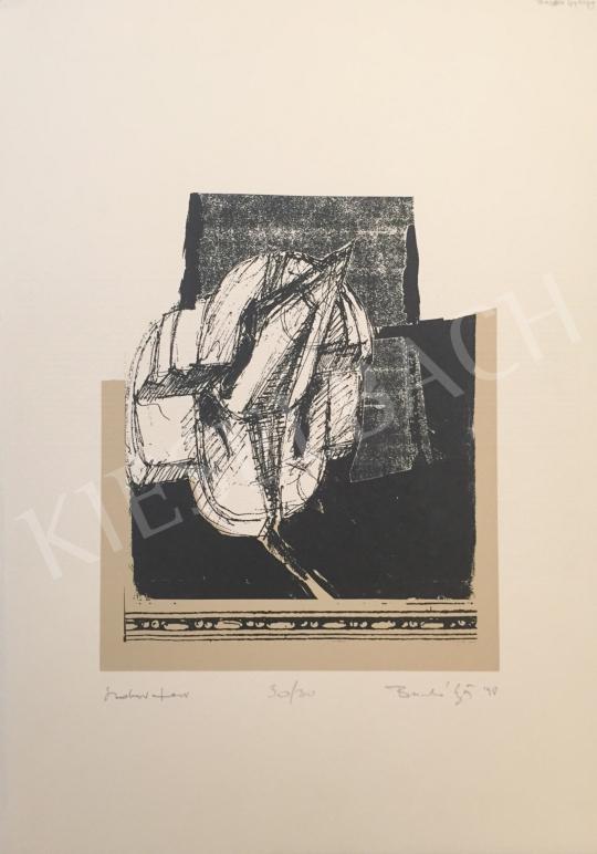 Eladó  Ismeretlen művész olvashatatlan jelzéssel - Szoborterv, 1998 festménye