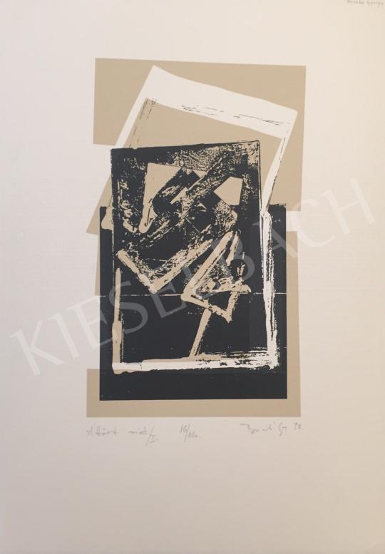 Eladó  Ismeretlen művész olvashatatlan jelzéssel - Áttört sió/I ?, 1998 festménye