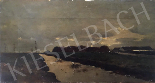 K. Spányi, Béla - Landscape with Clouds painting
