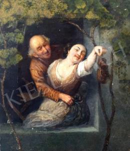 Ismeretlen közép-európai művész, 19. század második fele - Udvarlás