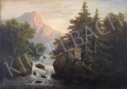 Ismeretlen művész, Hein szignóval - Folyó, háttérben heggyel