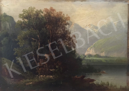 Unknown Artist with Hein Signaturne - Forest Detail, Backgrounds with Mountains