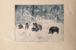Csergezán, Pál - Wild Boars in Winter II.