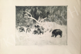 Csergezán, Pál - Wild Boars in Winter III.