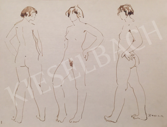 For sale Dániel, Kornél Miklós (Fisch Kornél) - Standing Nude Studies, 1993 's painting