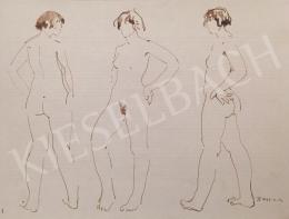 Dániel, Kornél Miklós (Fisch Kornél) - Standing Nude Studies, 1993