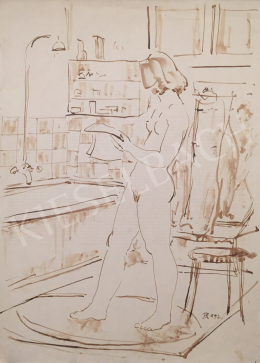 Dániel, Kornél Miklós (Fisch Kornél) - Women Nude in the Bathroom, 1992