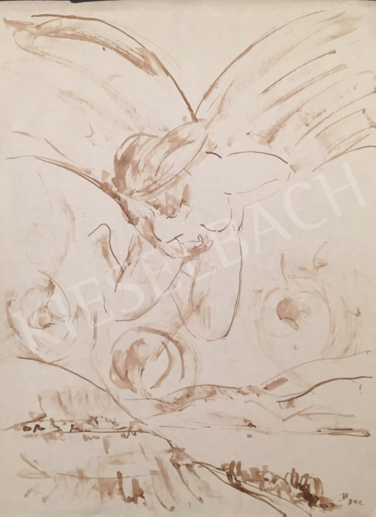 For sale Dániel, Kornél Miklós (Fisch Kornél) - Angel, 1992 's painting