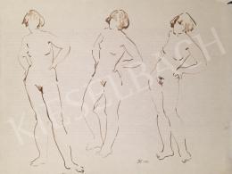 Dániel Kornél Miklós - Álló női akttanulmányok, 1993