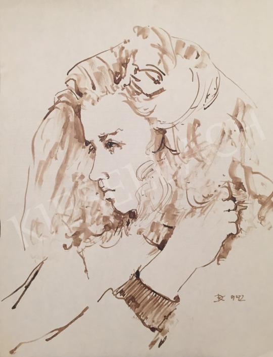 Eladó Dániel Kornél Miklós - Női portré, 1992 festménye
