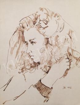 Dániel Kornél Miklós - Női portré, 1992