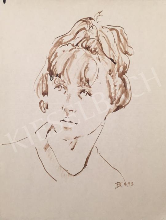 Eladó Dániel Kornél Miklós - Női portré, 1993 festménye