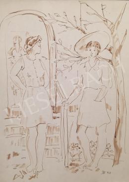 Dániel, Kornél Miklós (Fisch Kornél) - Womens in the Garden, 1992
