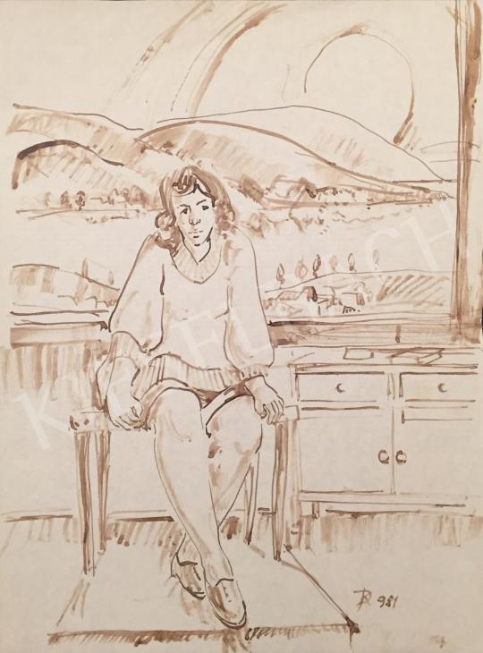 Eladó Dániel Kornél Miklós - Szobában ülő nő, 1981 festménye