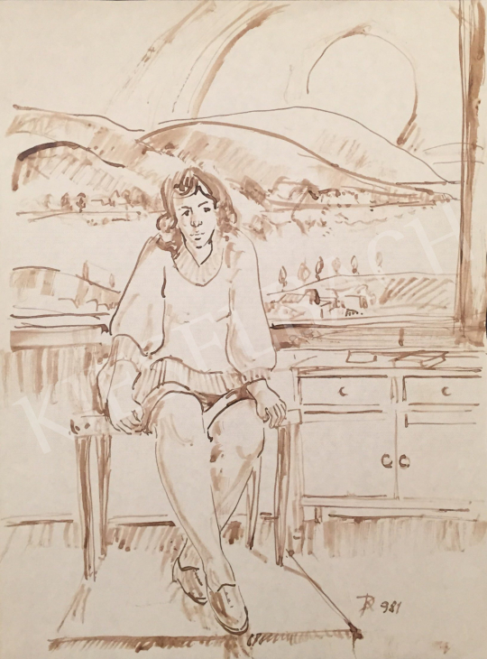 For sale Dániel, Kornél Miklós (Fisch Kornél) - Woman Sitting in a Room, 1981  's painting