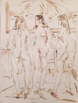 Dániel, Kornél Miklós (Fisch Kornél) - Women Nudes in the Interior, 1992