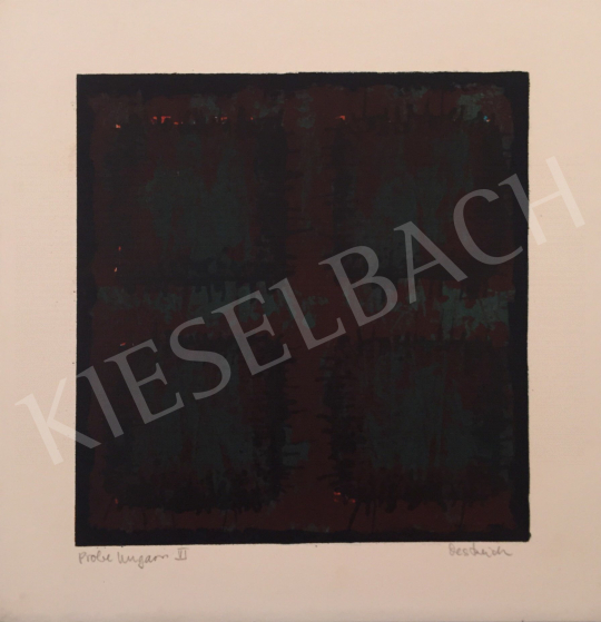 For sale  Unknown Artist with Oestreich Signature - Probe Ungarn VI., 1999 's painting