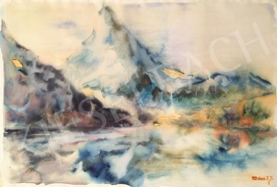 Eladó Mikes István József - Svájci tó festménye