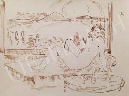 Dániel, Kornél Miklós (Fisch Kornél) - A Woman Lying in the Interior, 1992