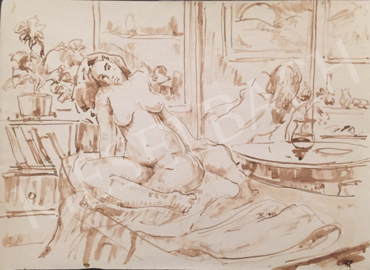 For sale Dániel, Kornél Miklós (Fisch Kornél) - Sitting Female Act, 1993 's painting