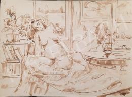 Dániel, Kornél Miklós (Fisch Kornél) - Sitting Female Act, 1993