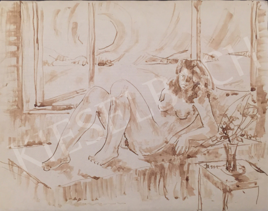 For sale Dániel, Kornél Miklós (Fisch Kornél) - A Woman Lying in the Interior, 1991 's painting