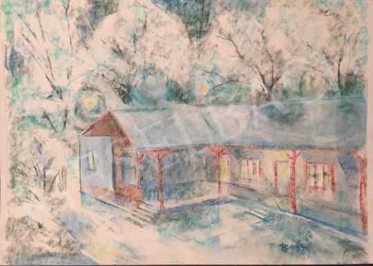 Eladó Dániel Kornél Miklós - Kékes táj házzal, 1993 festménye