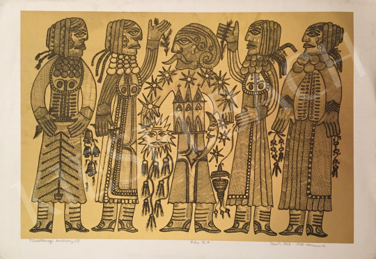 For sale Tamás, Pál - Christmas at Kalotaszeg, 1992 's painting
