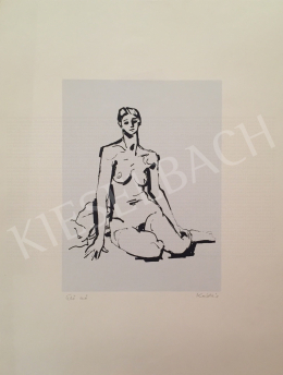 Kádár György - Ülő nő
