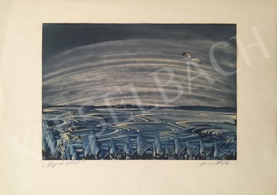 Eladó  Nánási Tóth Lajos - Hajnali horgászat festménye